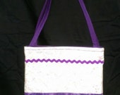 Pink and Purple Activity Bag with a Ton of Activities Included.  Cotton with 2 Long Carry Straps, Large Pockets, Batting, Super Soft, FUN!!