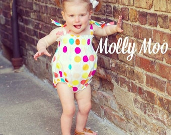 Ice cream bubble romper in sizes 0-3 months to 24 months