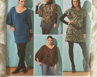 Simplicity Womens Knit Mini Dress with Belt  Sewing Pattern 2804 Size 4 6 8 10 12  UC FF Uncut