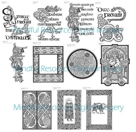 Adult Celtic Colouring Pages Digital