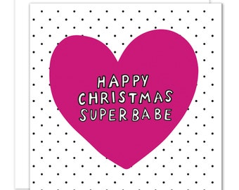 Happy Christmas Superbabe Christmas Card