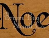 French Stencil - Vintage Noel - 4 sizes -  Christmas Stencil - Sign Stencil - Ornament Stencil - Pillow Stencil - Elegant - FREE SHIPPING