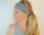 Gray Yoga Headband Workout Accessories womens headbands hairwraps running no slip adjustable hairband