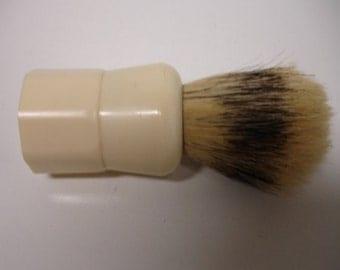 Vintage Shaving Brush Opal Brand Set In Rubber Cream Color Men shaving Brush 1950s Lot no. 184