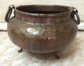 Vintage Copper Bowl Hammered Copper Container Copper Planter