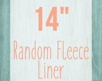 "Random Fleece Cage Liner - 14"" - Choose Your Size"