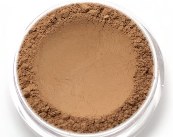 "Mineral Wonder Powder Foundation - ""Cinnamon"" - medium to dark shade with a pink undertone - vegan makeup"