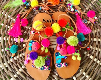 Pom Pom Sandal For Kids,  Girls Sandals