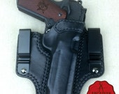 Handmade 1911 Tuck IWB Pistol Holster with Combat Cut Draw Custom sizes available, Tuckable Shirt Holster