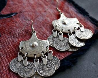 Kalpana Coin Earrings Tribal Earrings Festival Boho Jewelry