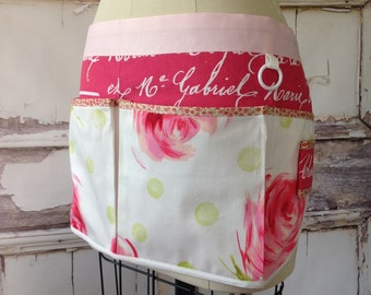 French Floral Utility Apron
