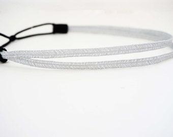 Double Strand Silver Headband