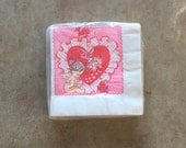 70's VALENTINES PARTY NAPKINS - Retro // Holiday // Love // Celebration // Kitsch // Cute // New Old Stock