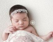 Ready to Ship Rhinestone Headband, Baby Headband, Vintage Headand Photography Prop