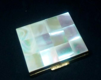 Mother of Pearl Gold Compact