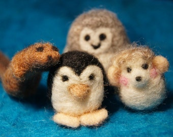 Tiny Hand Felted Critters