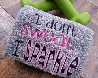 Work Out/Gym Towel-Pink Sparkle