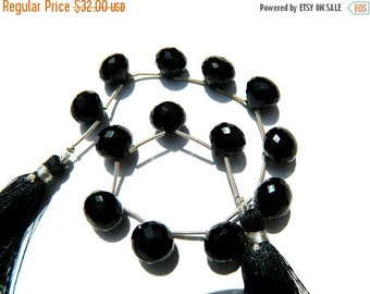 20%off. AAA Quality Black Onyx Faceted Onion briolettes 13 pcs  Size-10x10 mm approx