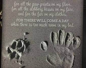 I Am Thankful For My Dog  Print Decoupaged on Wood