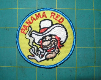 "Vintage patches from 1970's ""Panama Red"""