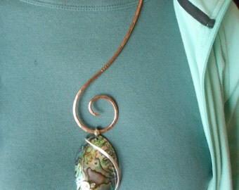 Hammered Copper Free Form Forged Collar