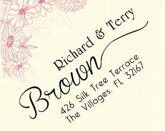custom address stamp,SELF INKING Return address stamp,personalized family address stamp,wedding address stamp,S08