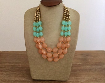 The Peach Ombre Necklace