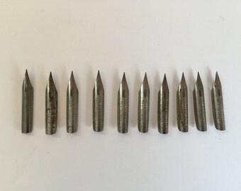 Vintage Esterbrook and Milton Bradley Pen Nibs