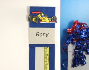 BOY'S PERSONALIZED GIFT - Blue Growth Chart - Metric Growth Chart