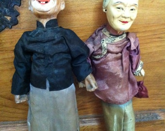 Chinese Man and Woman Puppets