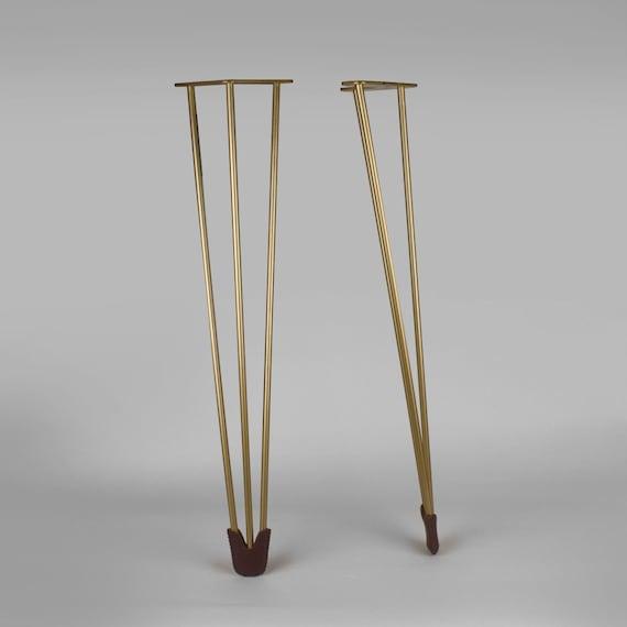 set of 4 mid century modern hairpin by forgehardwarestudio on etsy. Black Bedroom Furniture Sets. Home Design Ideas