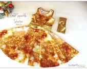 Gold Sparkle Skater Dress -Size 6   REDUCED PRICE