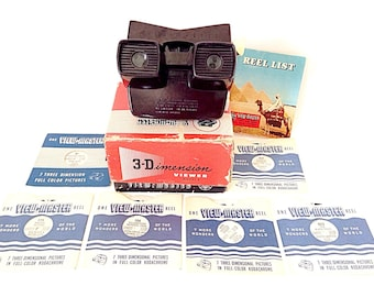 Vintage View-Master, By Sawyer's, Model-E, In Original Box and Reel List and 6 Reels, 1950s 3-Dimension Viewer