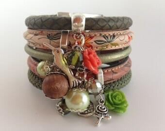 Amazing cuff bracelet 'Gypsy Spring'