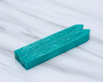 Sealing Wax in Tiffan Blue (Color S) - Stamp Wax, Seal Wax - Standard or Glue Gun Use