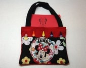 Minnie Mouse  Children's Crayon Bag and Customized Paper, Party Favor