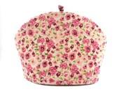 Pink Flowers Teapot Cozy / Pretty Tea Pot Warmer / Mothers Day Gift / Spring Flower / RedLeafStitchCraft