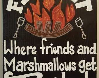 Welcome to Our Firepit sign - Handpainted
