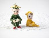 Josef Originals Pixie Elf with Flower Hat & Yellow Elf