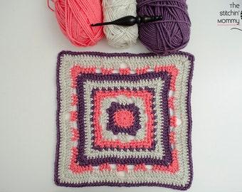 Rising Sun 12 Inch Afghan Square - Crochet Pattern