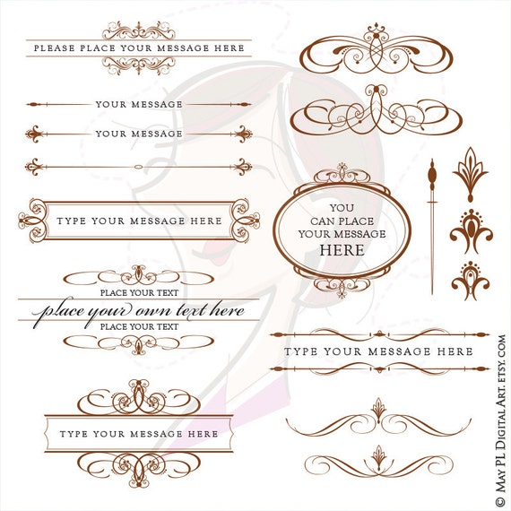 My Wedding Invite Clip Art At Clker Com: DIY Wedding Invitations Clip Art Chocolate Dark BROWN
