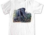 Elephant Baby and MotherT-shirt Women Men Children Small, Medium, Large, XL