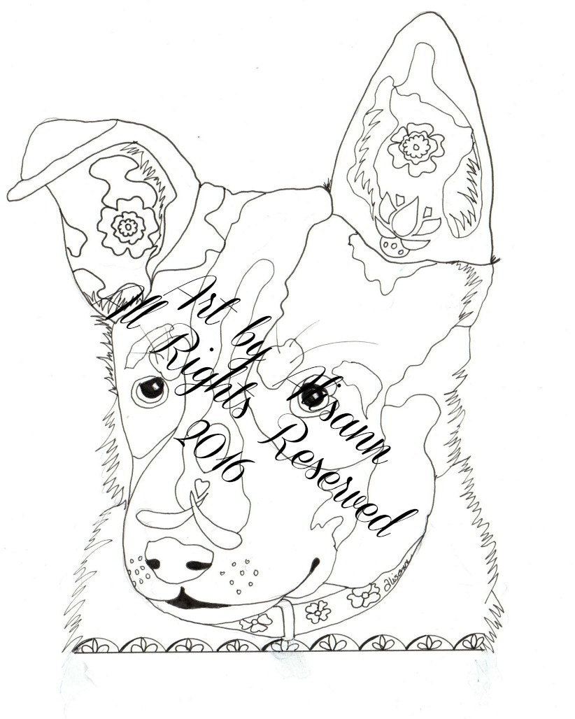 blue dog coloring pages - photo#13
