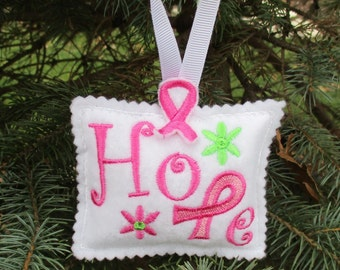 "Breast Cancer Awareness ""Hope"" Ornament"