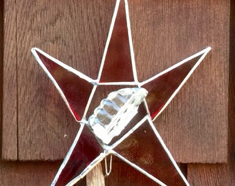 Stained glass tree topper