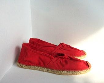 Vintage espadrilles red size 9 size 40 women's