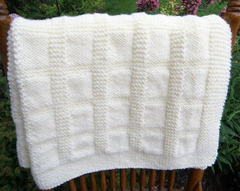 Antique White Baby Blanket Afghan