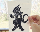MewTwo in Armour Vinyl Decal (Sticker) Pokemon
