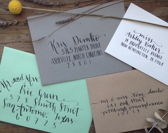 Wedding Calligraphy Envelope Addressing-Hand Lettering-Modern Calligraphy