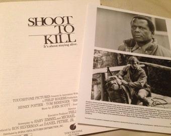 press kit, Shoot to Kill, 1988